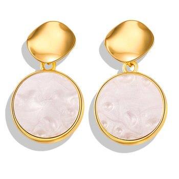 Geometric Shell Earrings For Women Earrings Jewelry Women Jewelry Metal Color: FCS1705A1