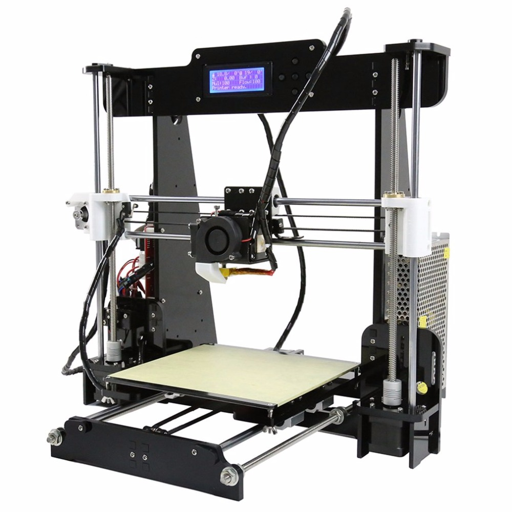Anet A8 Large Printing Size Precision Reprap i3 DIY 3D Printer Kit 2017 anet a8 3d printer high precision reprap prusa i3 3d printer kit diy large printing size with 1rolls filament 8gb sd card