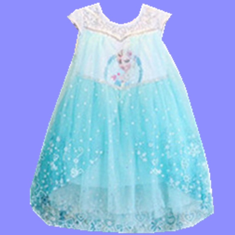 2016 Summer Girls Dream Dress Elsa Anna Cosplay vestidos infants princess Dresses Children Clothing Baby Kids Clothes - baby's dream world store