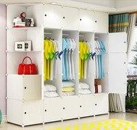 Meble do przechowywania ubrania szafy metalowe tkaniny z żywicy szafa płaszcz organizer do szafki białe drewno wzór szafa sypialniana B501 w Szafy od Meble na