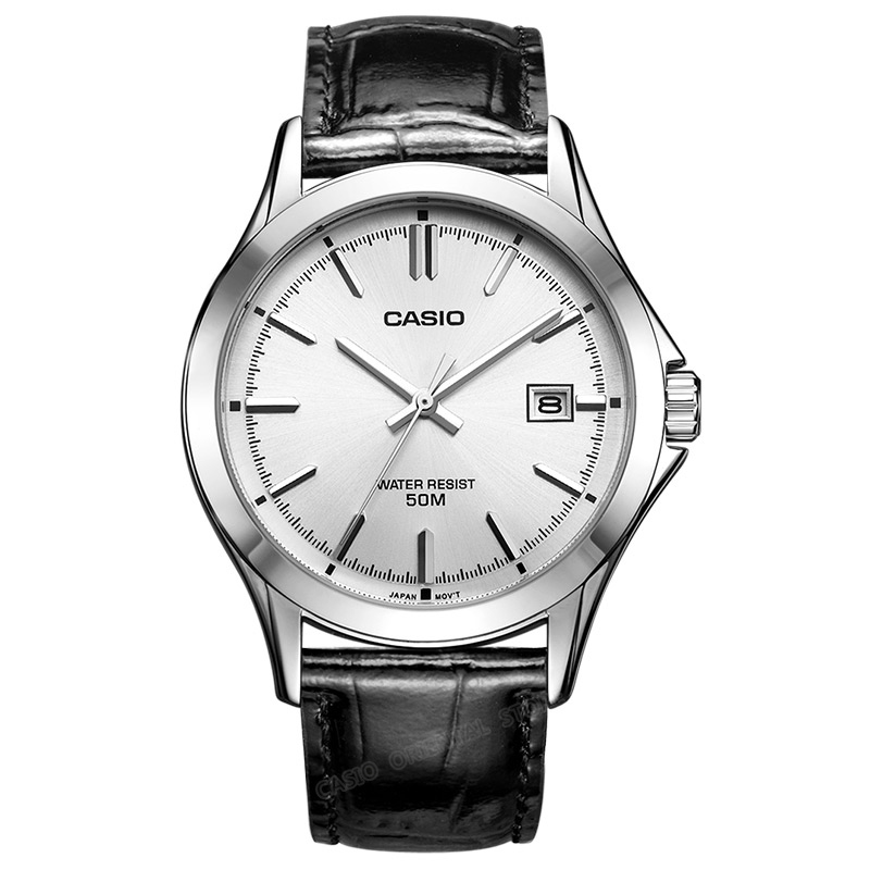 CASIO Watch Hot Sale Quartz Men Waterproof simple stylish Top Luxury brand Wrist Watch leather band 100% original watch MTP-1380