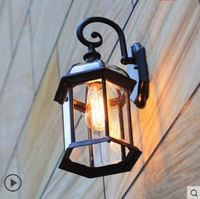 Outdoor wall lamp courtyard balcony outdoor waterproof American retro background wall exterior aisle led light