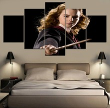 Modern Wall Art Home Decor Canvas Print Painting One Set Frame Or Unframed 5 Panel Movie Harry Potter Hermione Jean Granger