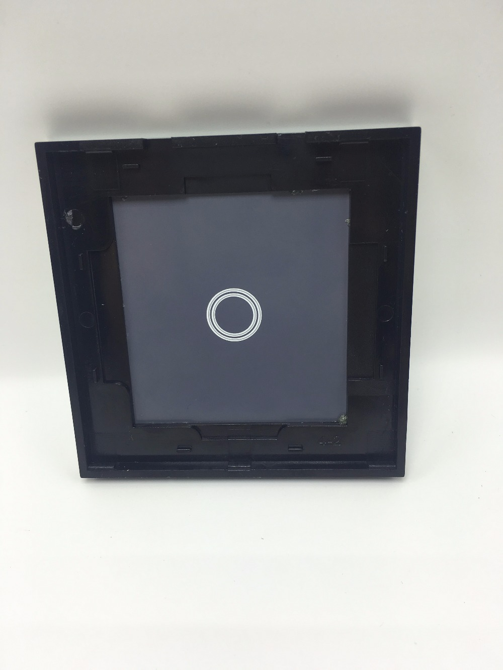 Luxury White black Pearl Crystal Glass, 80mm*80mm, EU standard, Single Glass Panel For 1 2 3 Gang Wall Touch Switc