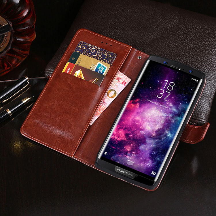 Luxury Case For Homtom HT70 Case PU Leather Silicone Flip Wallet Cover Phone Coque For Homtom HT70 Case Protective Hoesje Bag(China)