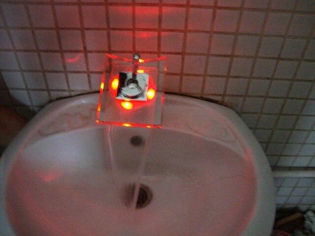 Led waterval fonteinkraan mengkraan licht met led verlichting kleur ...