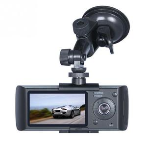 "Image 4 - 듀얼 카메라 자동차 dvr r300 gps 및 3d g 센서 2.7 ""tft lcd x3000 캠 비디오 캠코더 사이클 녹화 디지털 줌"