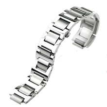 ISUNZUN L M Size Watch Band For Men And Women For Cartier Ballon Blue Watch Strap 316L Stainless Steel Watchbands Free Shipping
