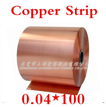Kupferband Kupfer Streifen 2 Meter 0,04x100mm 0,04mm Hochwertigen Kupferfolie