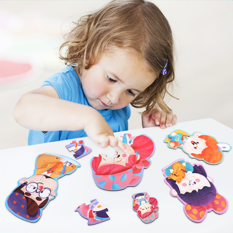 Baby Wooden Toys Puzzles Jigsaw puzzle Animal /Traffic /Ocean fish/Educational table gam ...