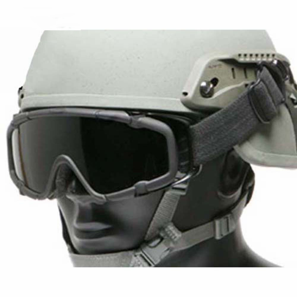 Airsoft Tactical Helmet Goggles Glasses Paintball Motorcycle Racing Cycling Skiing 2pcs Lens Goggles with Side Rails