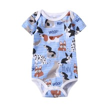 Summer New Baby Girl Bodysuits Cute Cartoon Newborn Boy Jumpsuit Overalls Infant Bebe Coveralls