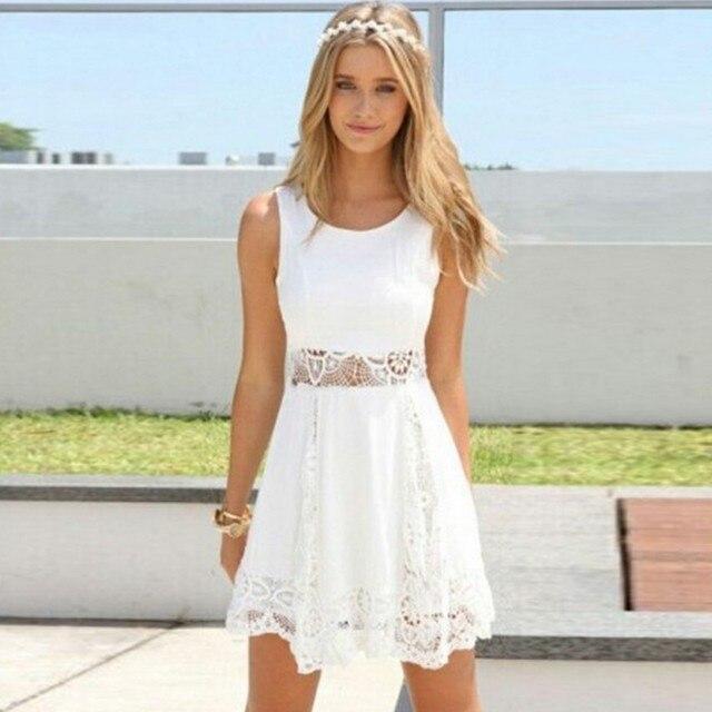 save off 5a8f6 25a13 Vestito bianco pizzo corto – Vestiti da cerimonia