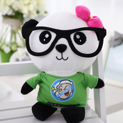 cartoon panda in green cloth 90cm plush toy panda doll soft throw pillow, Christmas birthday gift x036 cute cartoon ladybird plush toy doll soft throw pillow toy birthday gift h2813