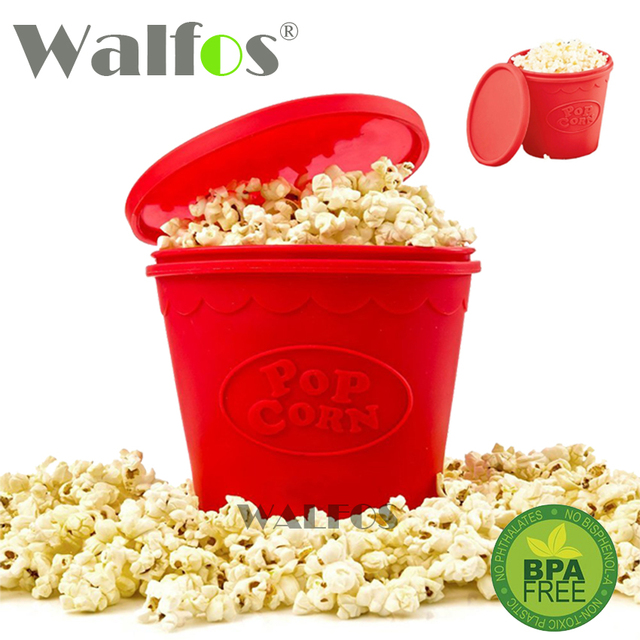 As Seen On TV Silicone Popcorn Container  DIY Silicone Microwave Popcorn Maker Bucket