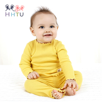 HHTU 2017 Newborn Autumn Baby Boys Girls Children Suits Cotton Long Sleeve Casual Clothing Clothes Pants