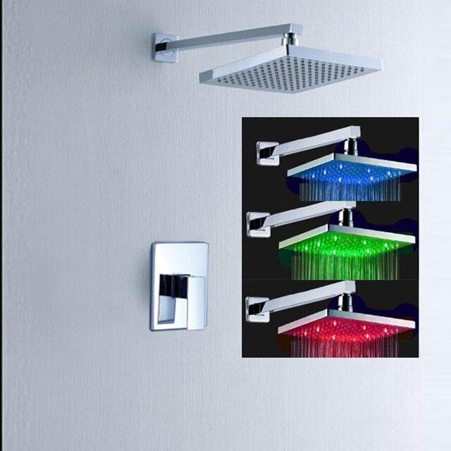 Bath Mixer With LED Rain Shower Faucets LED Lighting Shower Set ...