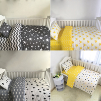 3 pcs/set Baby Bedding Set Including Duvet Cover Pillowcase Bed Sheet 100% Cotton Baby Linen Baby Crib Set For Both Girl and Boy