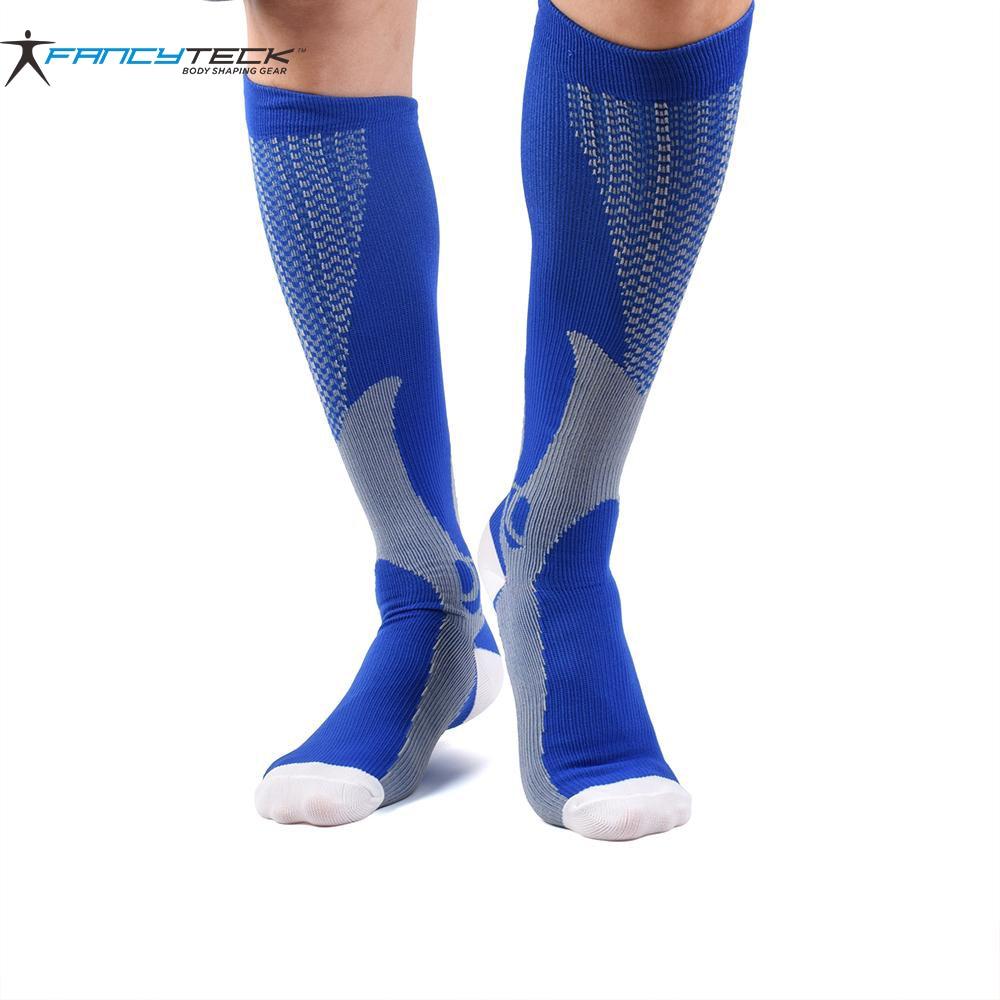 Calcetines de compresión de alivio de estrés unisex de 3 colores Calcetines circulares de compresión de ajuste extremo Calcetines adelgazantes de pierna de venta caliente