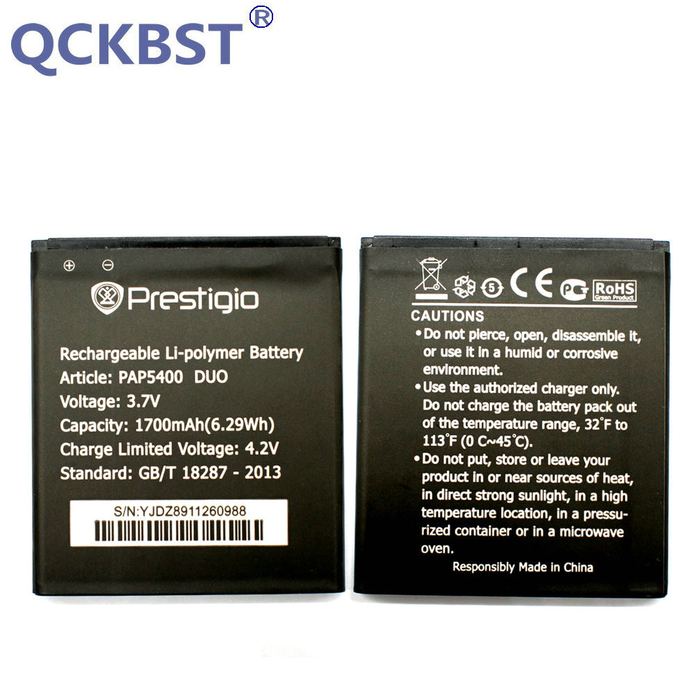 QCKBST 1700mAh High Quality Replacement Batteries For Prestigio MultiPhone PAP5400 DUO PAP 5400 Phone In stock Tracking code