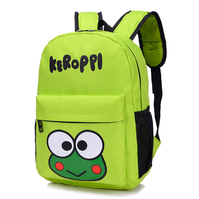 2016 New Fashion Animal Style School Bag Cute Frog Backpack Children Schoolbags for Girls Boys Kindergarten Bag Sac A Dos Femme