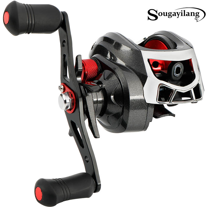 Sougayilang Baitcasting Reels 13BB Carp Fishing Gear Left/Right Hand Bait Carbon Fiber Casting Fishing Reels 8.5KG Max Drag Coil trulinoya full metal body baitcasting reel 7 0 1 10bb carbon fiber double brake bait casting fishing reel max drag 7kg