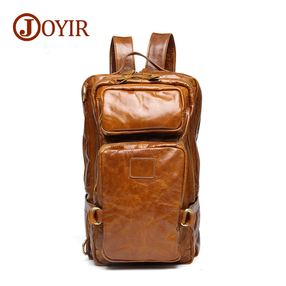 Luxury Fashion Cow Leather Men Backpack Man Cowhide Leather Causal Backpack Vintage Travel Bags For Men Genuine Leather Bag cow leather man backpack 100