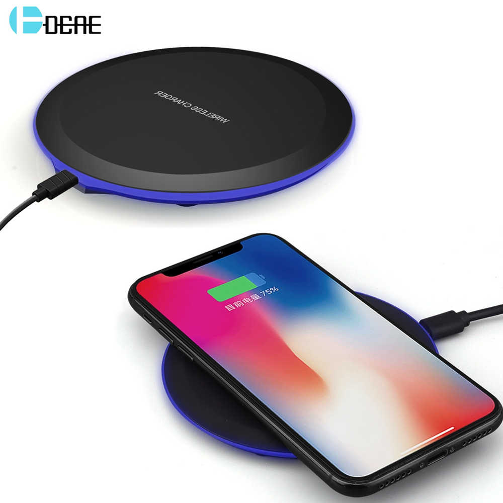 buy online bd2aa cb6f7 DCAE QI Wireless Charger For iPhone X 8 XS Max XR Samsung S9 S8 Plus Xiaomi  Mix 3 2s Wireless Charging Pad Docking Dock Station