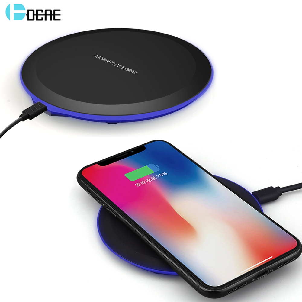 DCAE QI Wireless Charger For iPhone X 8 XS Max XR Samsung S9