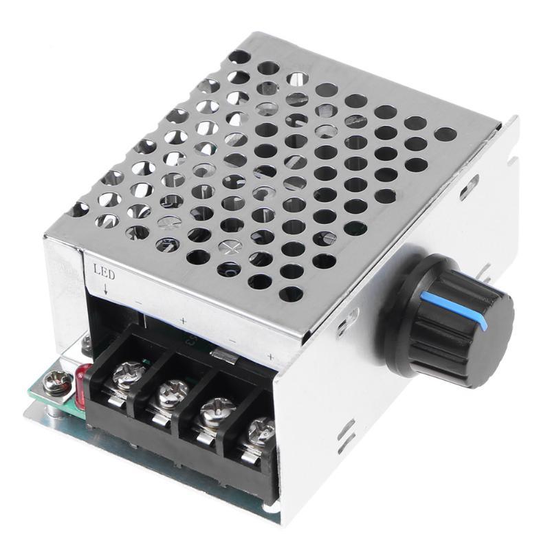 DC9V-60V Brush Motor Speed Controller Generator Regulator Pulse Width Modulator With Shell Cover Adjutable Speed Driver Switch 20a universal dc10 60v pwm hho rc motor speed regulator controller switch l057 new hot