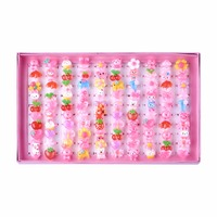Cute Children S Day Jewelry Plastic Kids Rings For Girls With Mixed Style Resin Cabochons Mixed