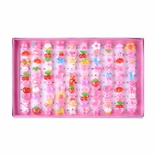 Joyería Día de Niños lindos Niños De Plástico Llaveros para Las Niñas, con Estilo Mezclado Cabochons de la Resina, Color mezclado, 41mm; 100 unids/caja