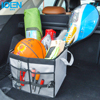 1PCS Quality Storage Box Car SUV Trunk Bag Folding Multi Use Organizer Storage Bag Gray Oxford