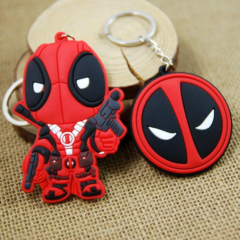 Hero Figure Deadpool 2 Action Figure Keychain Woman Deadpool Double Size Key Holder Keyring Toy Cartoon Chaveiro Car Bag Key Toy