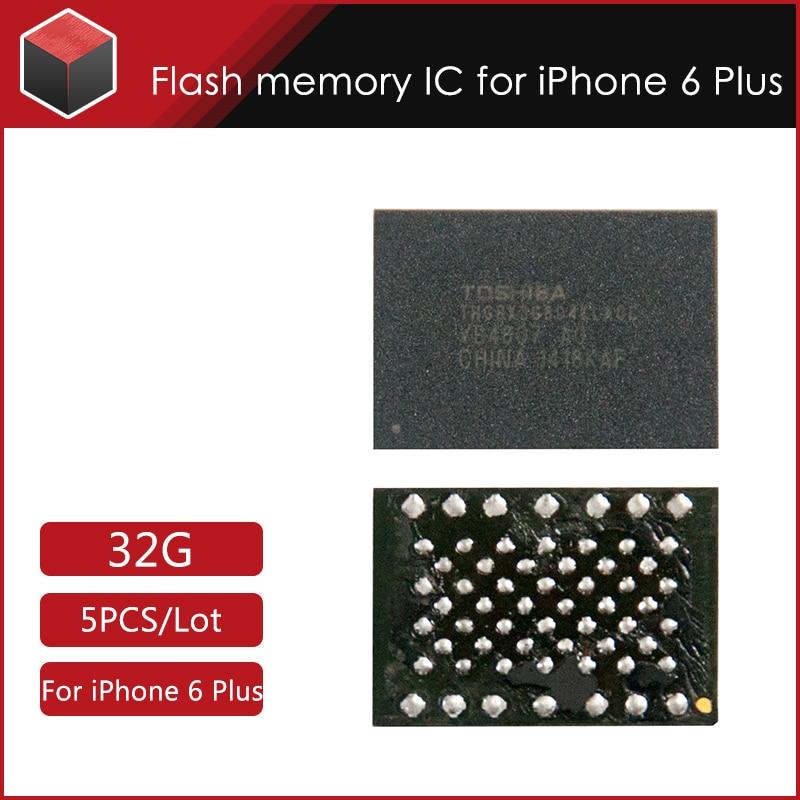 5pcs/lot Hard disk NAND flash memory IC for iPhone 6 plus (5.5inch) 32GB iCloud Unlock