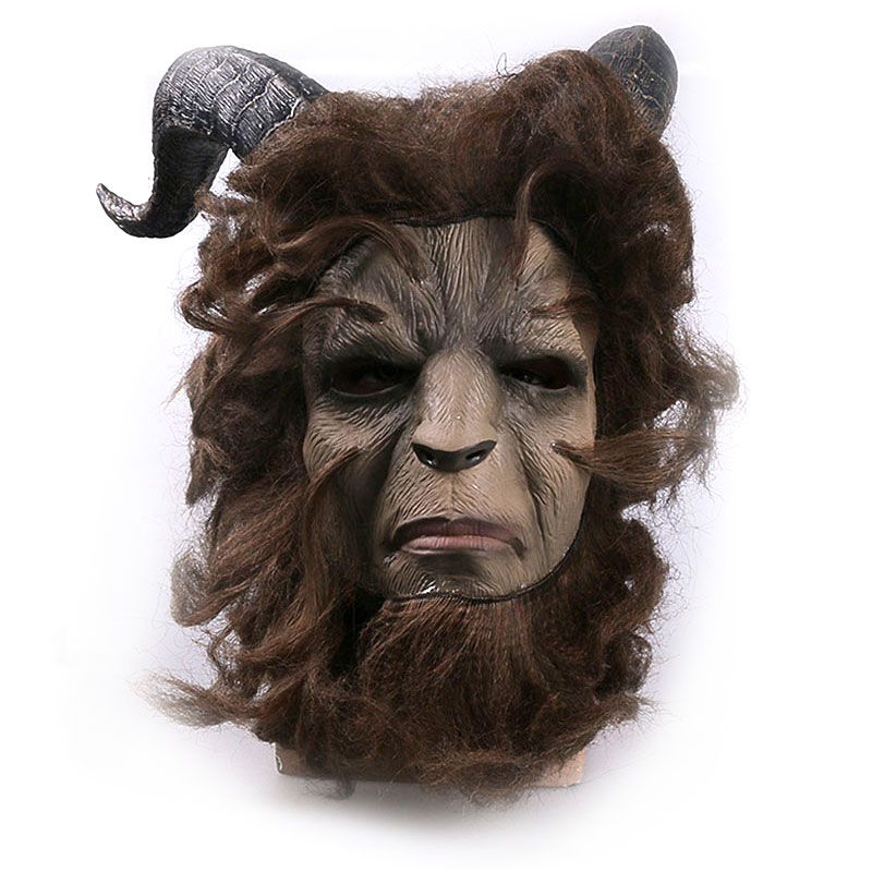 Beast Mask Halloween Dance Party Decor Horror Prank Prince Cosplay Craft