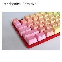 87 клавиш Радужный OEM профиль брелки Cherry MX Переключатель PBT колпачки радий valture с боковой печатью для механической клавиатуры