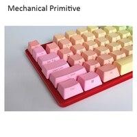 Chaveiros de perfil do arco-íris com 87 teclas  interruptor cherry mx pbt  válvula de radium  teclas impressas laterais para teclado mecânico