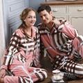 2016 Зимние Пижамы для Женщин Коралловый Флис Pijama Пары Пижамы Женские Фланелевые Пижамы Теплый Пижамы Женщин Пижамы Twinset
