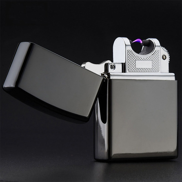 Electronic Cigarette Lighter Pulsed Arc Windproof Cigar Lighter USB Rechargeable Flameless Electric Arc Smoking Lighter 10 Color