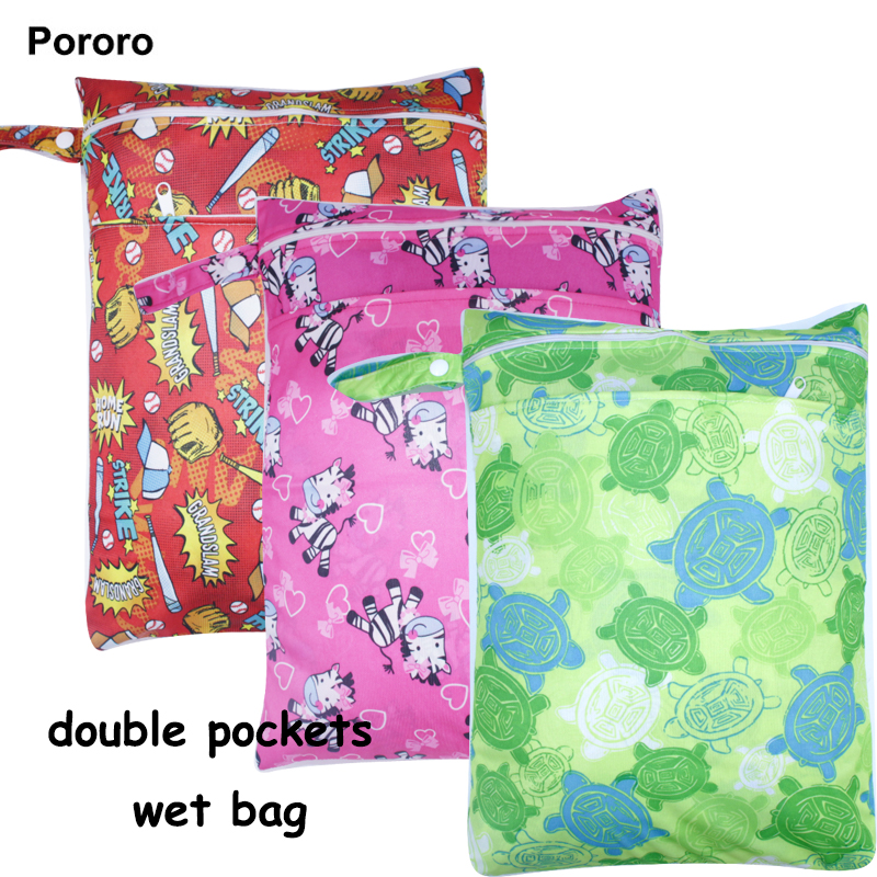 Multi-functional Waterproof Diaper Bag With Double Pockets, Wet Dry Nappy Bag For Keeping Baby Cloth Dirty And Clean Diaper