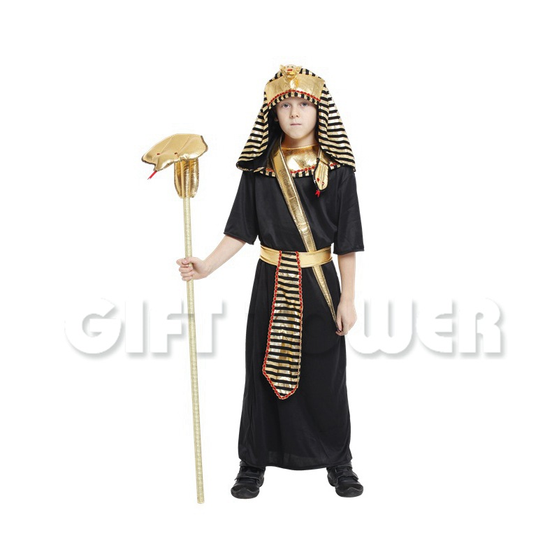 Halloween Costume Kids Fantasia Fancy Party Dress Boys Egyptian King Tut Carnival Holiday Stage Performance Clothing GT109