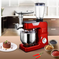 18 Multifunctional Stand mixer 5.5L Food mixer 1000W Home Dough knead machine Meat grinder/Juice/Sausage filler Chef machine