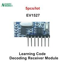 Receptor RF de 433 mhz Módulo Decodificador de código de aprendizaje, 433 mhz, salida inalámbrica de 4 canales, kit Diy para codificación remota 1527, 5 piezas