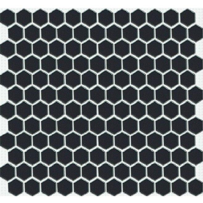 Petite Hexagonale En Céramique Mosaïque Salle De Bains Cuisine - Carrelage hexagonal noir