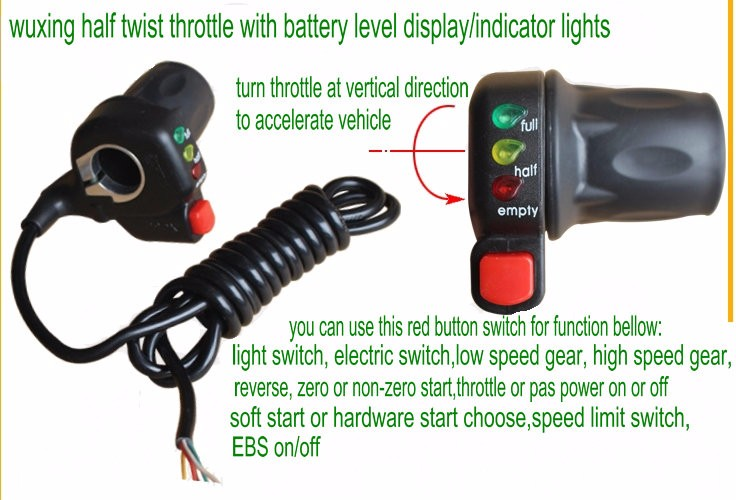 half twist throttle wuxing 22dx -with display