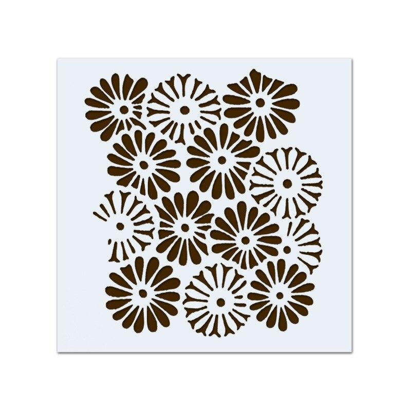 Craft Stencil Flower stencil Card making daisy Stencil Airbrush