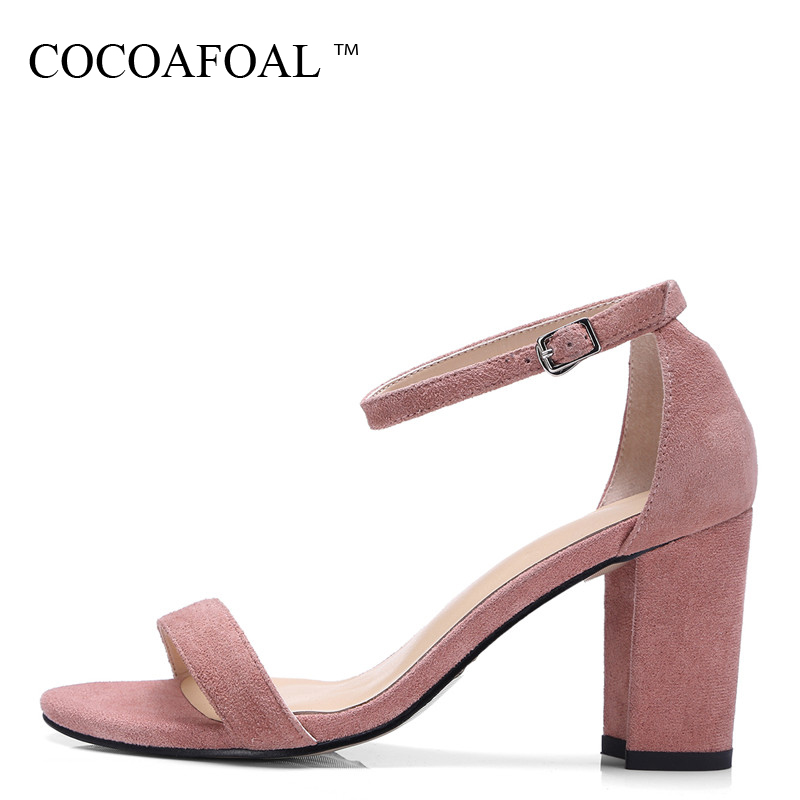 COCOAFOAL Women Black Wedding Sandals Peep Toe Heel Height Shoes Plus Size 32 - 42 Gray Sexy Woman Genuine Leather Sandals 2018 cocoafoal woamn patent leather sandals fashion heel height black white wedding shoes sexy genuine leather pointed toe sandals
