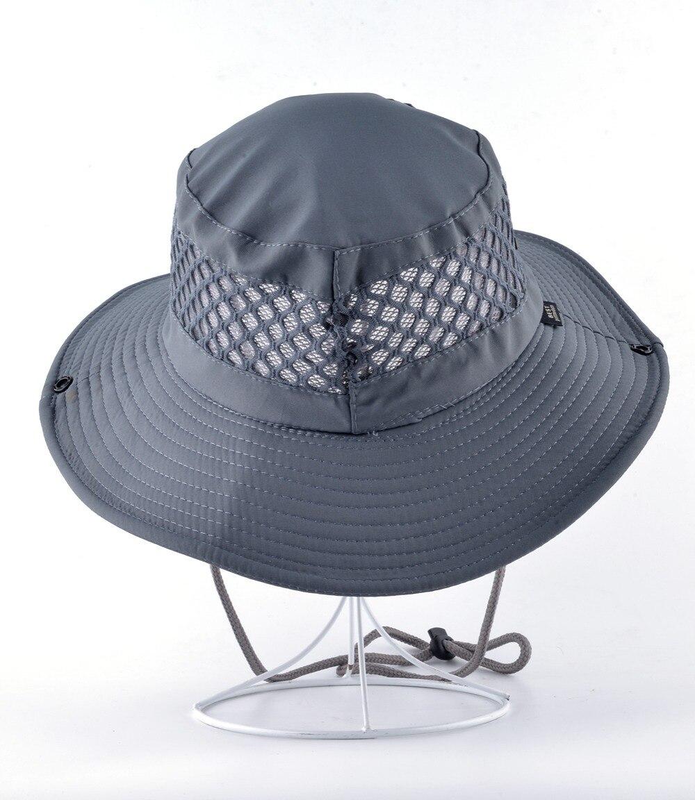 Verano cubo sombrero transpirable malla playa sombreros hombre ala ancha  Gorra de sol Mujer hombres al aire libre plegable UV protección Fishings  gorras en ... 757a32066d8