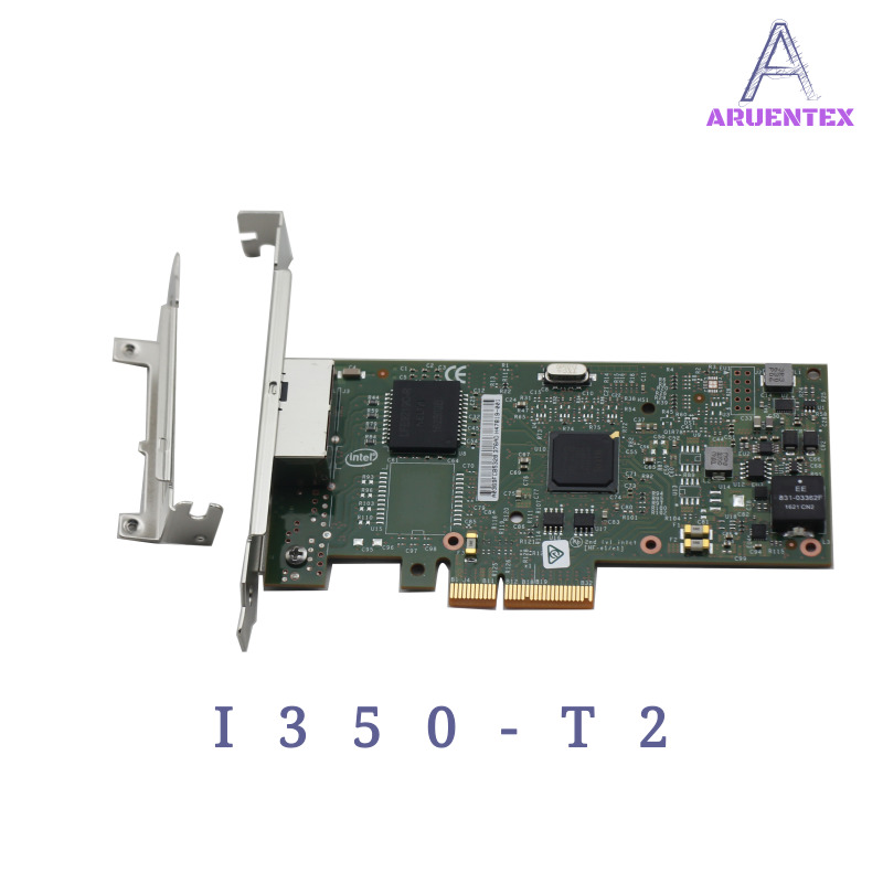 цена на ARUENTEX I350-T2 PCI-E 4X Server Dual RJ45 Port Gigabit Ethernet LAN Intel i350AM2 1G Network Card alibaba express